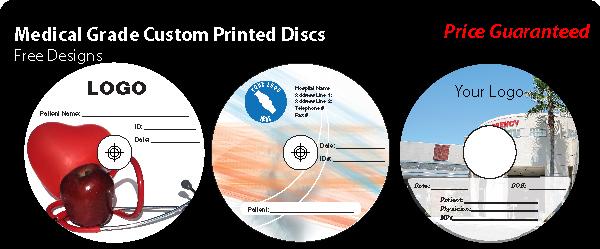 Radiology Pre Printed Discs Cd R Dvd R Medical Grade By